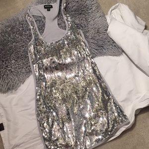 Bebe Sequined Tunic Tank or Mini Dress